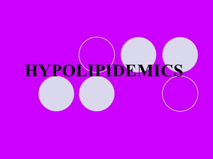 Powerpoints Hypolipidemics