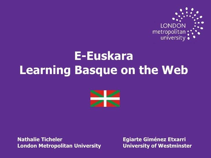 E-Euskara