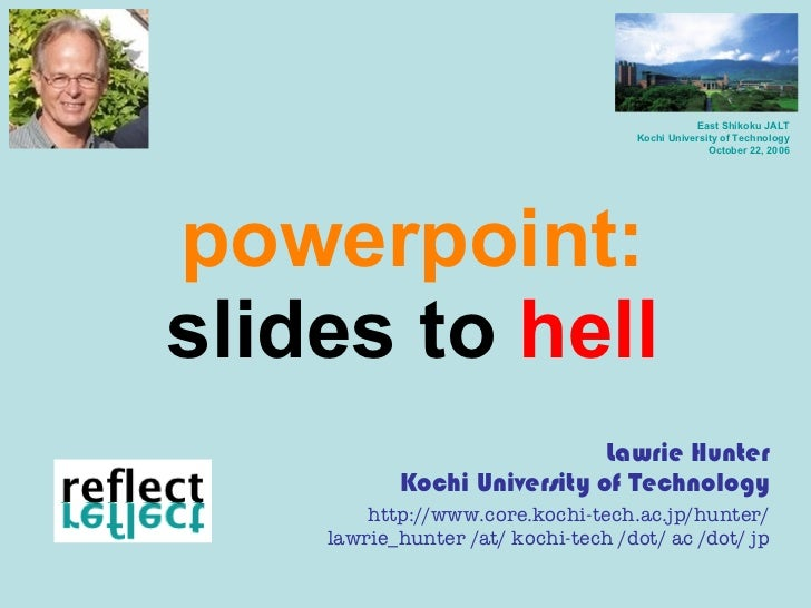 Powerpoint slides to hell
