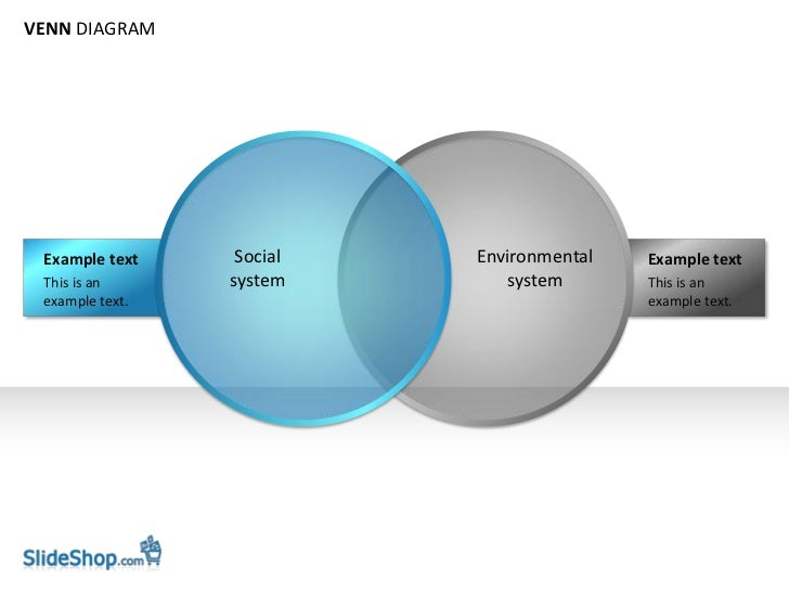 VENN DIAGRAM Example text     Social   Environmental   Example text This is an      system       system       This is an e...