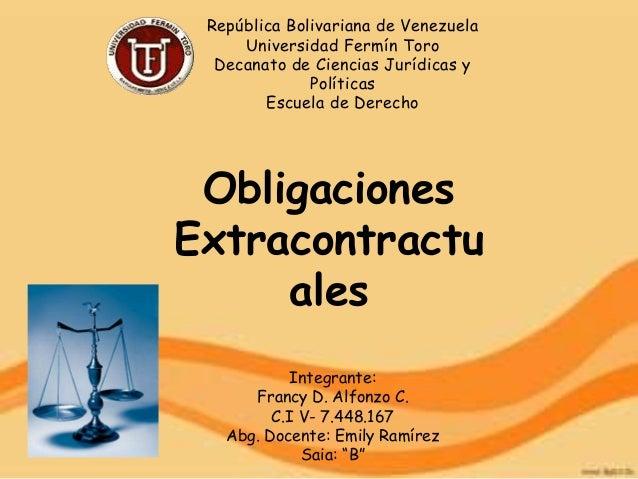 fuentes extracontractuales de las obligaciones: