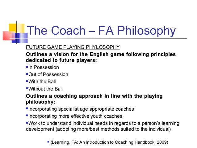 coaching philosophy essay A personal narrative on coaching philosophy pages 1  most helpful essay resource ever  coaching philosophy, significance of sports, importance of coaching.