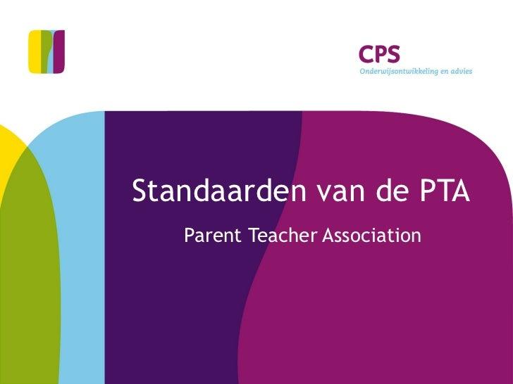 Standaarden van de PTA Parent Teacher Association