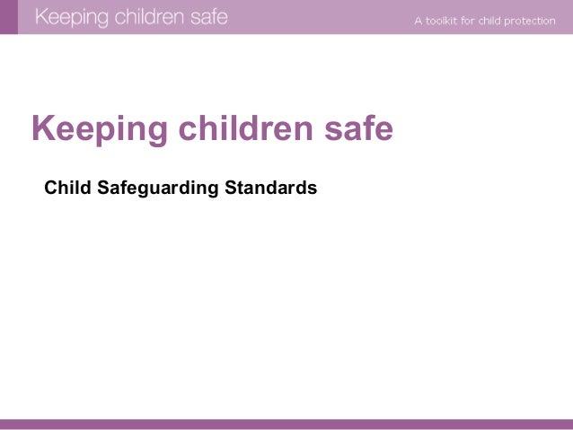 Keeping children safe - standards iii