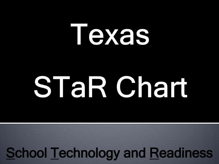 Texas STaR Chart<br />School Technology and Readiness<br />