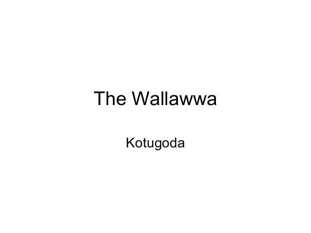 The WallawwaKotugoda