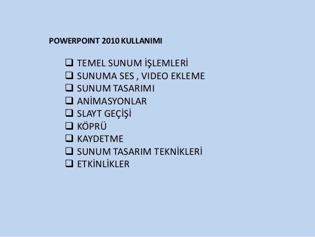 Power point  sunusu
