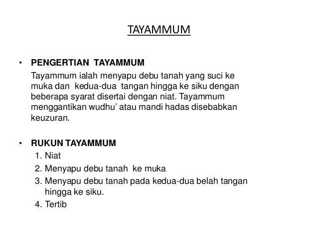 Power point tayammum