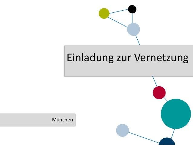 Einladung zur Vernetzung München