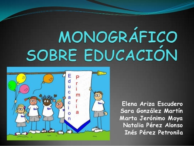 Monográfico sobre educación (power point)