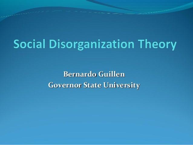 essays on social disorganization theory