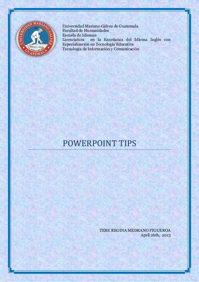 Powerpoint tips