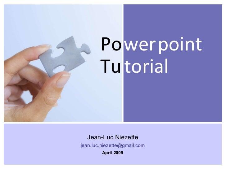 PowerPoint Tutorial Presentation - Tips & Tricks