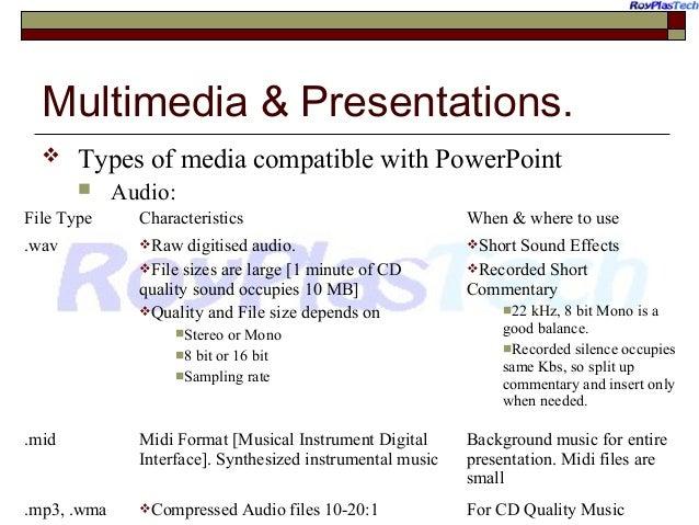 Kinds of presentations