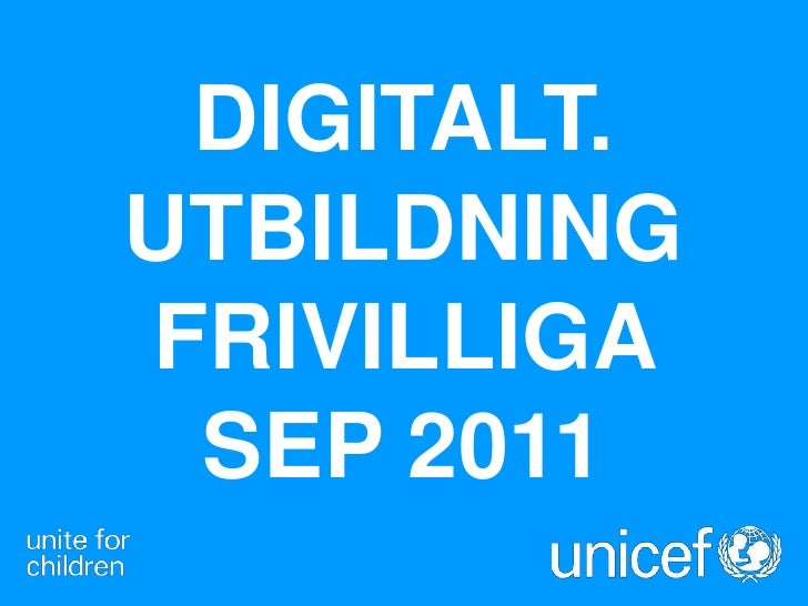 Digitalt.utbildning frivilliga     sep 2011<br />