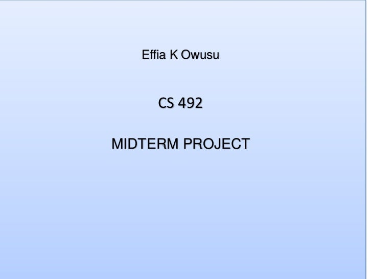 Effia K Owusu     CS 492MIDTERM PROJECT