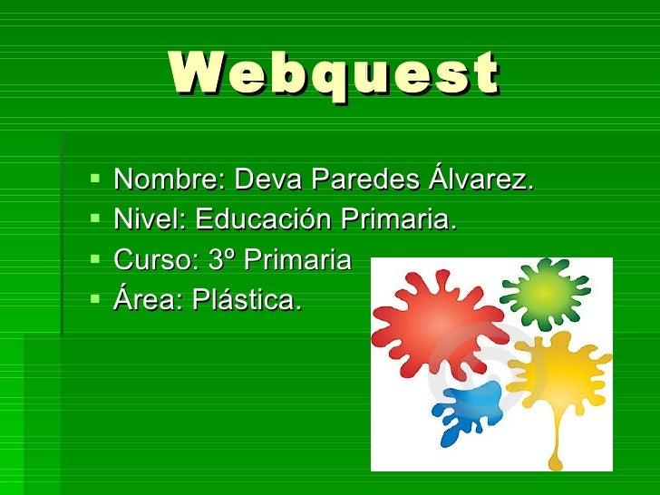 Webquest Secretos de los colores
