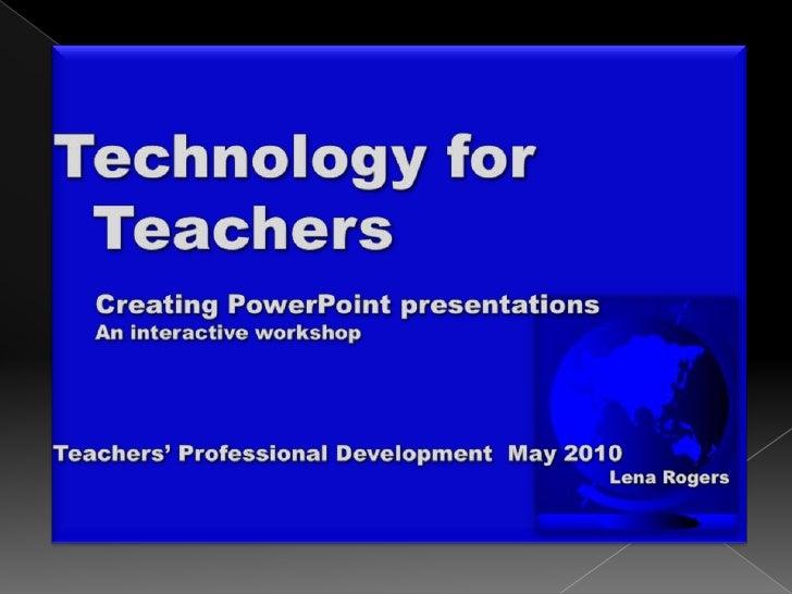 Powerpoint workshop 1