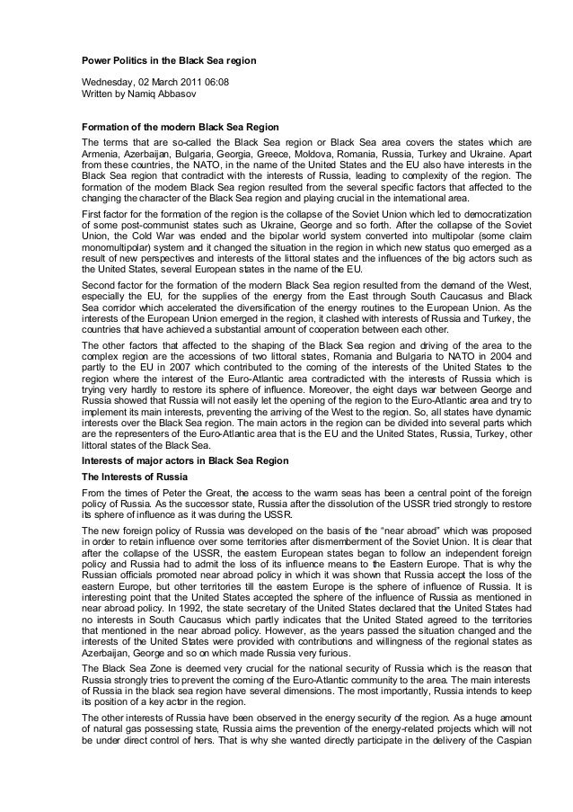 Power politics in the black sea region.docx