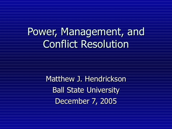 research paper topics - conflict resolution