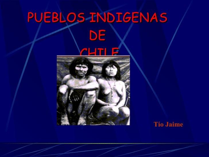 PUEBLOS INDIGENAS  DE  CHILE Tío Jaime