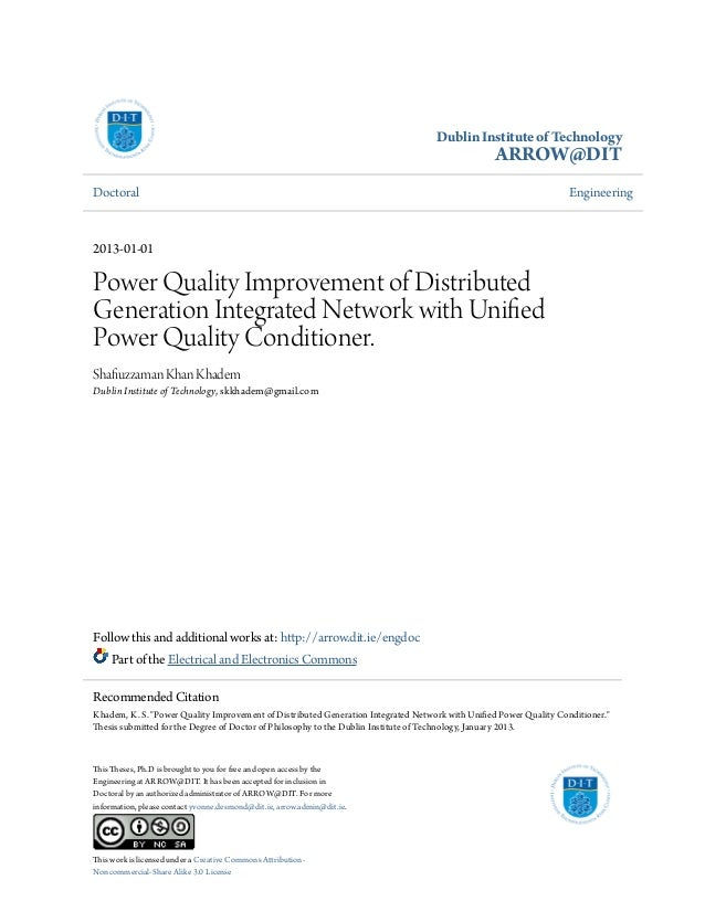 Phd thesis distributed generation