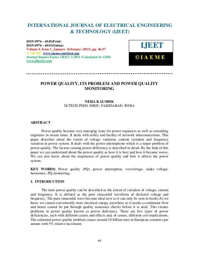 INTERNATIONAL Electrical EngineeringELECTRICAL ENGINEERING International Journal of                            JOURNAL OF ...