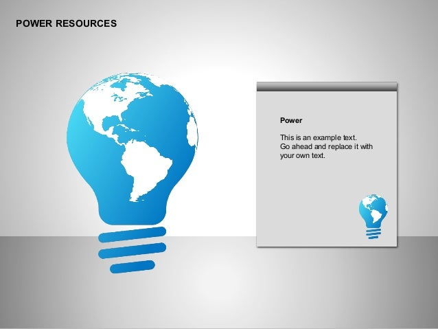 POWER RESOURCES Power This is an example text. Go ahead and replace it with your own text.