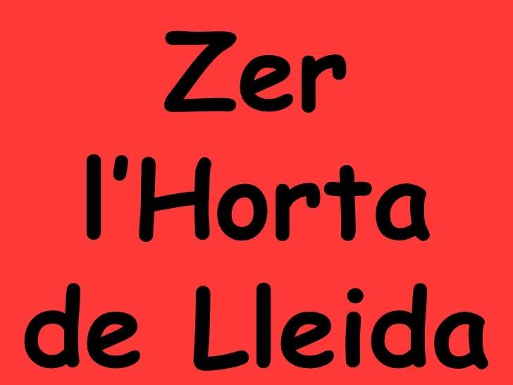 Zer l'Horta de Lleida
