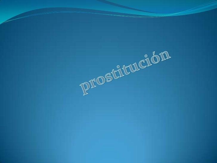 prostitución<br />
