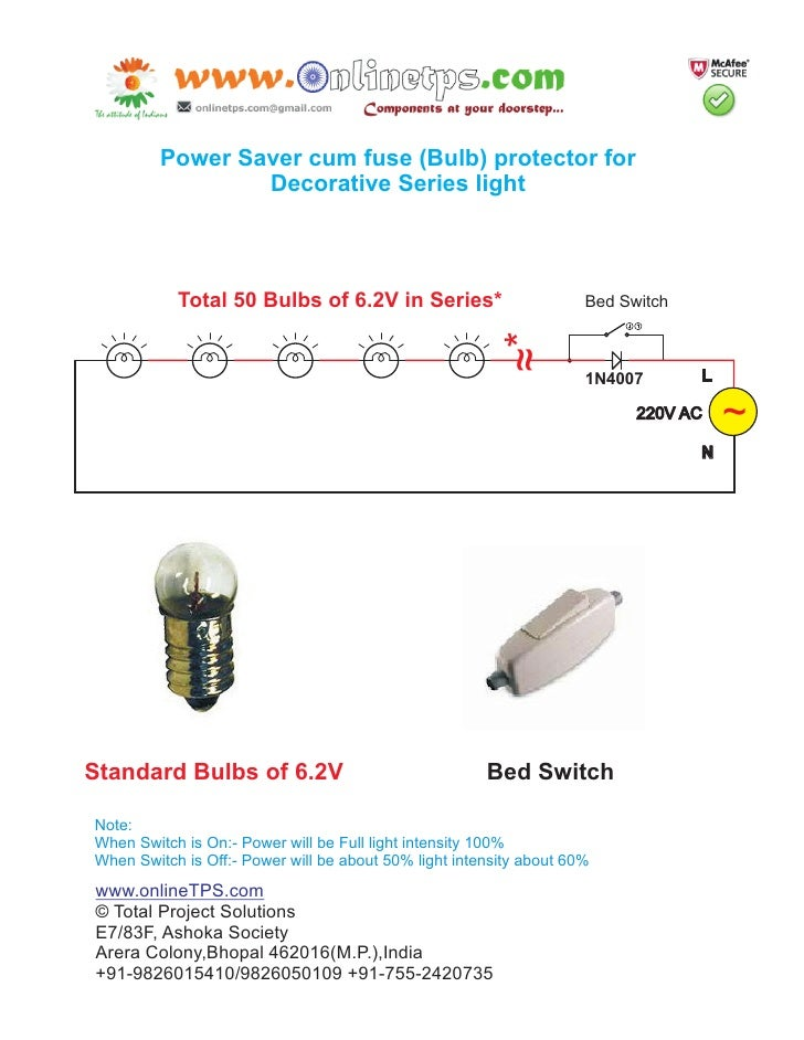 Power saver cum fuse  protector for decorative series www.onlineTPS.com