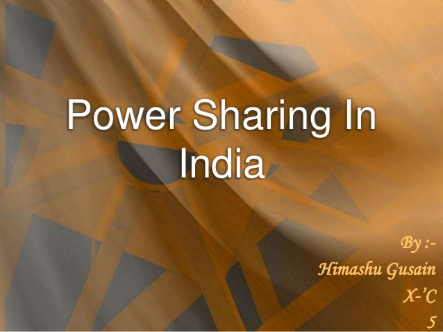 essay on power sharing in india