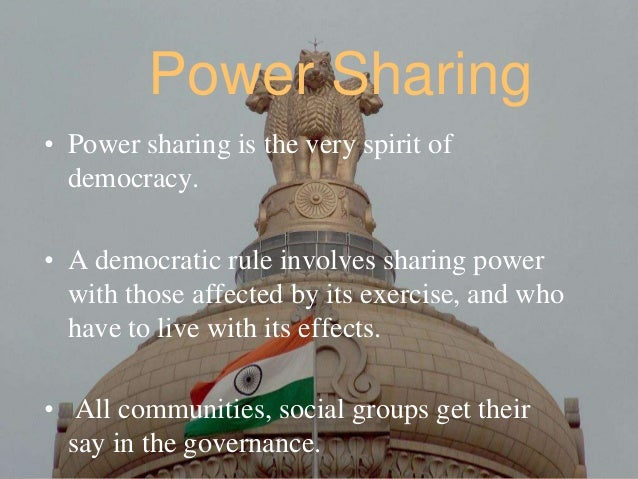 How Is Power Sharing Done in India?
