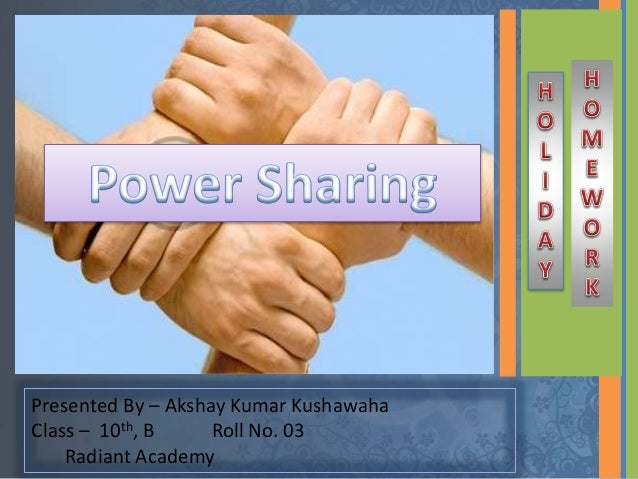 power sharing class 10 pdf