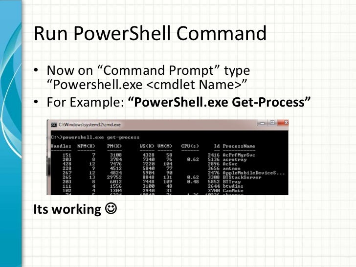 How to Run Powershell