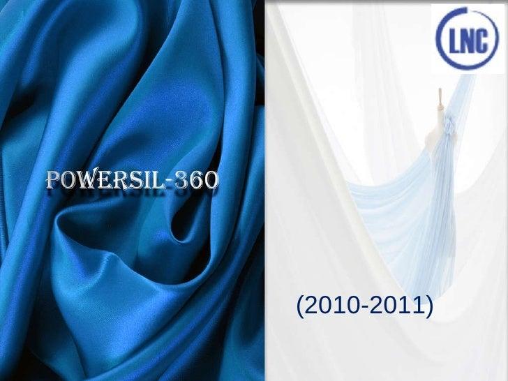 Powersil 360. Premium organo silicone softener