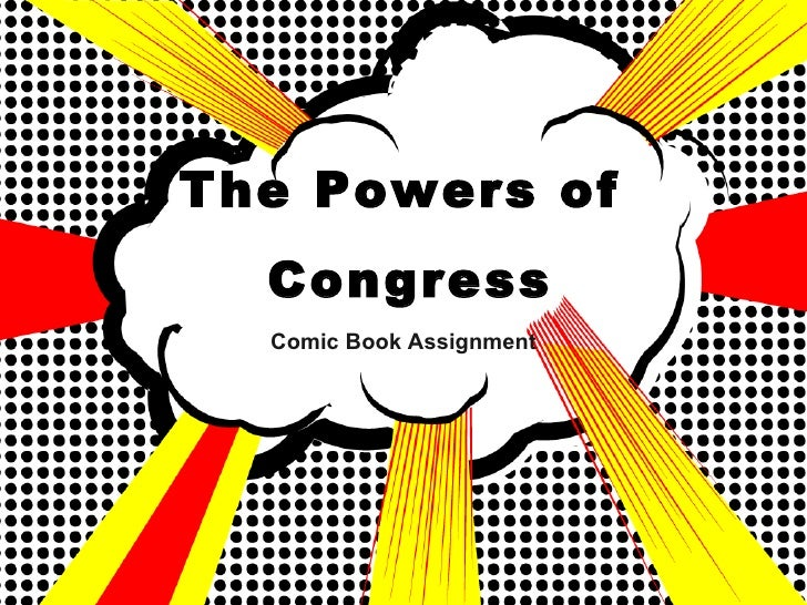 The Powers of Congress Comic Book Assignment
