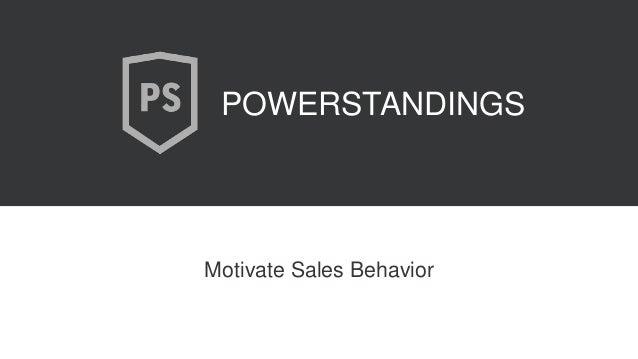 Motivate Sales Behavior POWERSTANDINGS