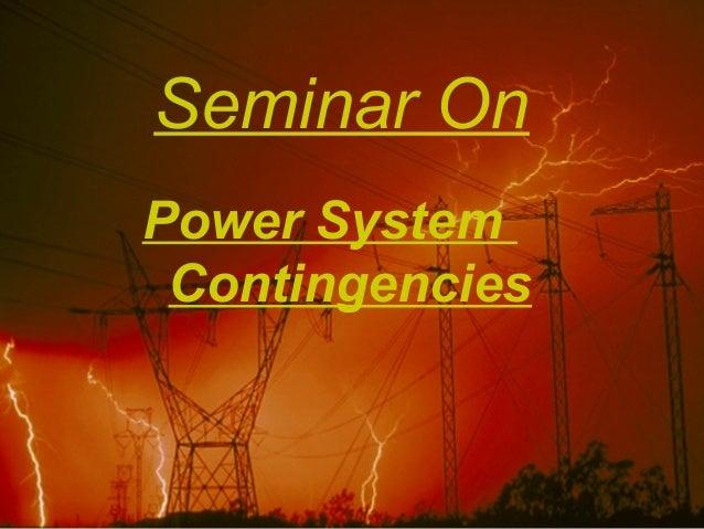 Power system  contingencies