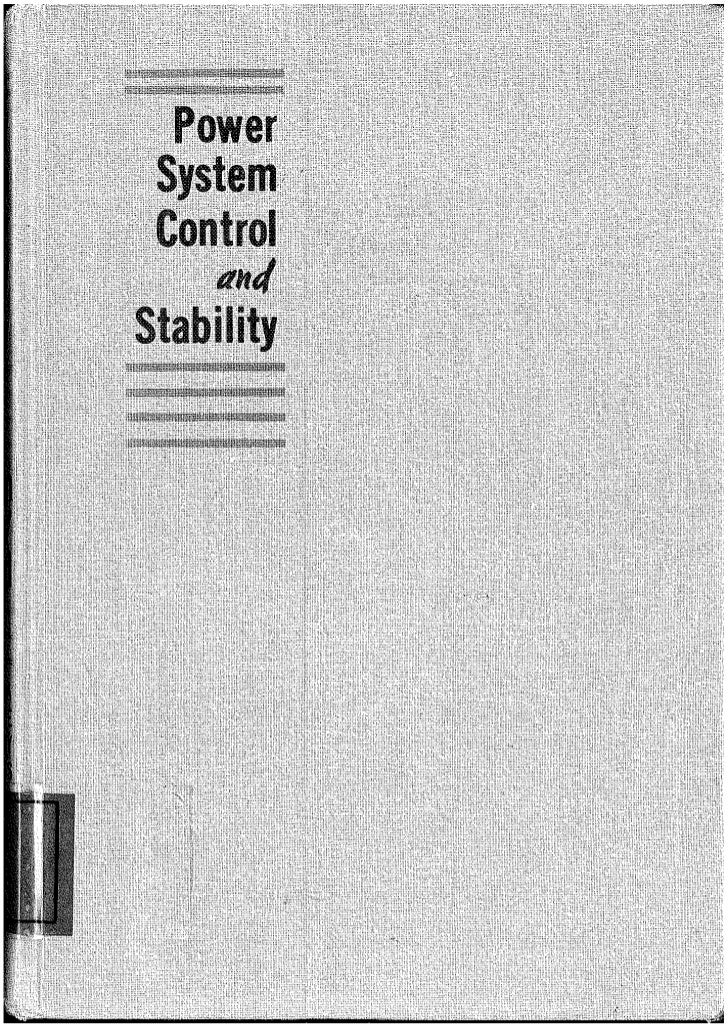 Power system control and stability vol 1 Anderson