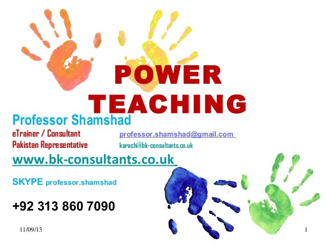 Power teaching for GREAT TEACHERS who inspire