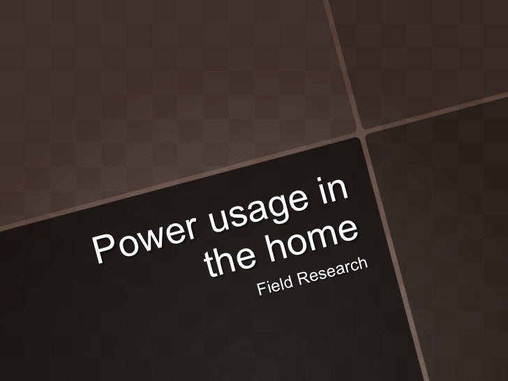 Power usage field research _ Sorrick