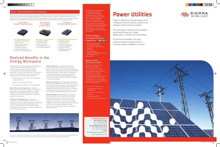 Power Utilities Today's utilities are incorporating more intelligence across delivery systems for mission critical communi...