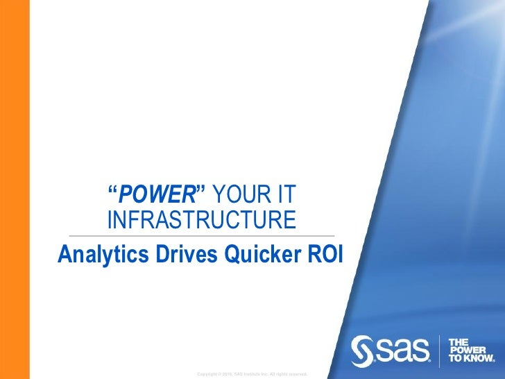 Power your IT infrastructure with Analytics
