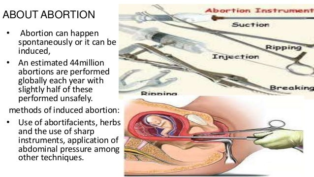 About abortion?