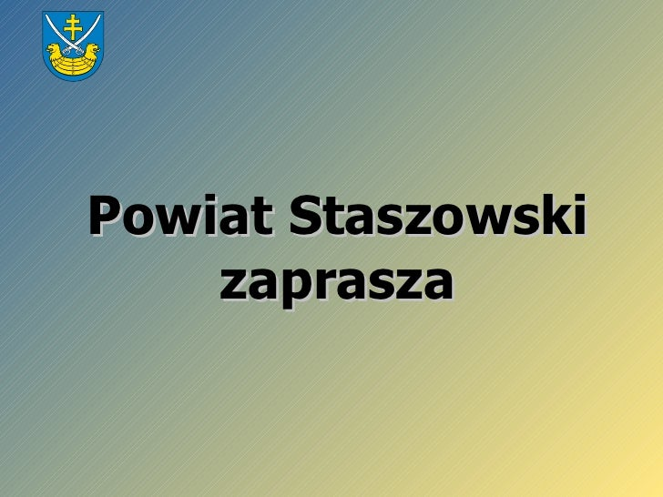Powiat Staszowski zaprasza