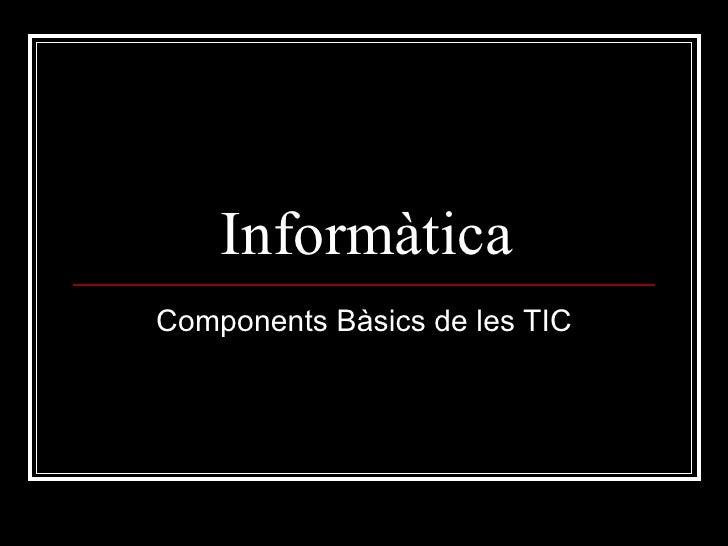 Informàtica Components Bàsics de les TIC