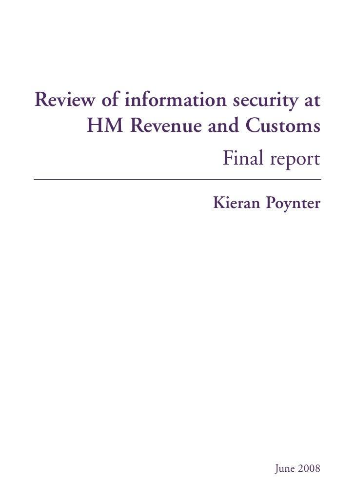 HMRC Poynter Review - IT failure analysis