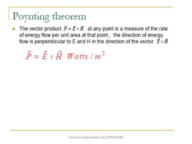 Poynting theorem WTP
