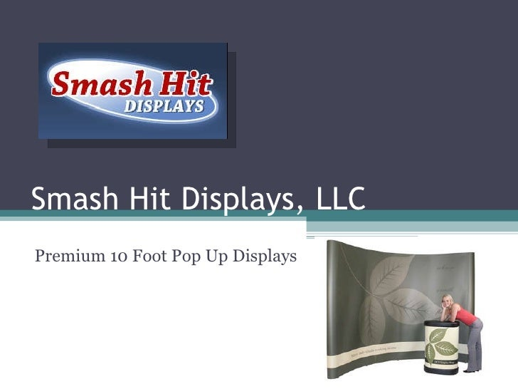 Smash Hit Displays, LLC Premium 10 Foot Pop Up Displays